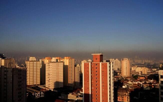 Sol de manhã na região da Mooca, zona leste de São Paulo