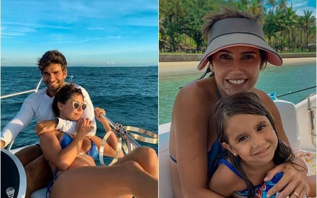 Deborah Secco e a família curtem domingo de sol