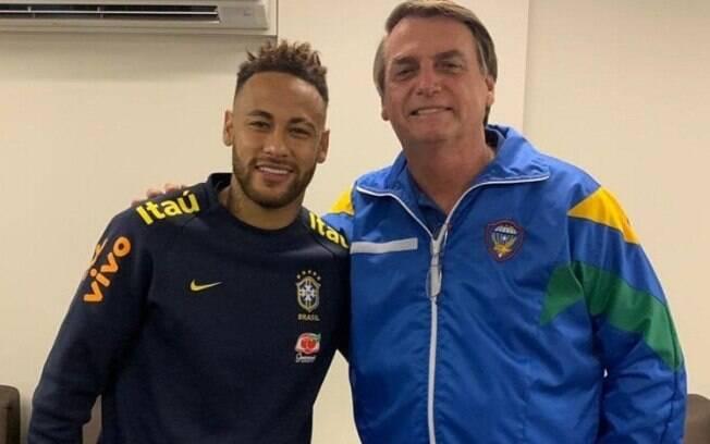 Bolsonaro já visitou Neymar