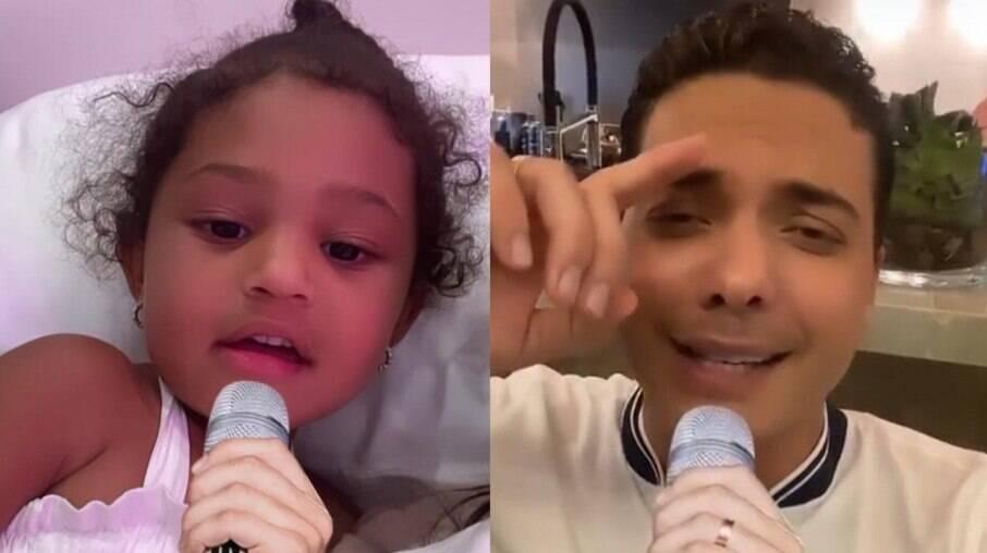 Filha de Kylie Jenner usa microfone de Safadão