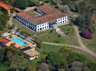 Vista aéria do histórico Hotel Fazenda Boa Vista, em Bananal