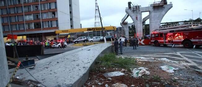 Viga do monotrilho desaba em São Paulo