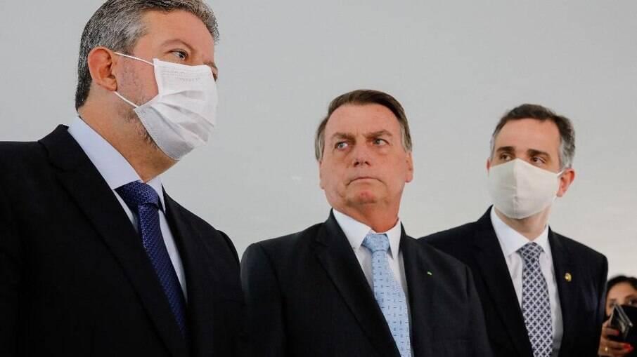 Lira, Bolsonaro e Pacheco