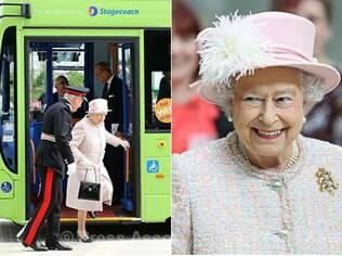 Rainha Elizabeth II usa transporte público em Cambridge