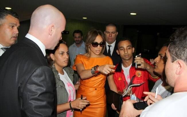 Jennifer Lopez no aeroporto de Guarulhos