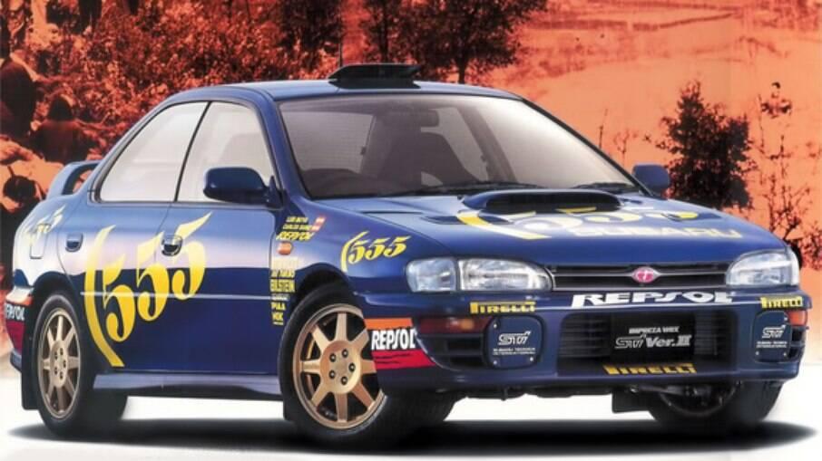 O azul chegou à Subaru pela patrocinadora 555, famosa marca inglesa de cigarros