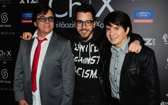 Junior Lima com o tio e o pai