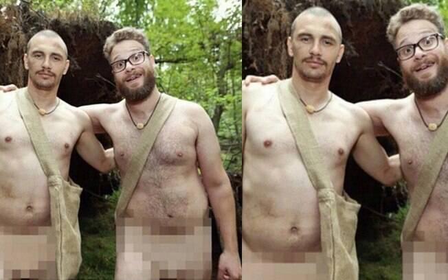 James Franco e Seth Rogen nus