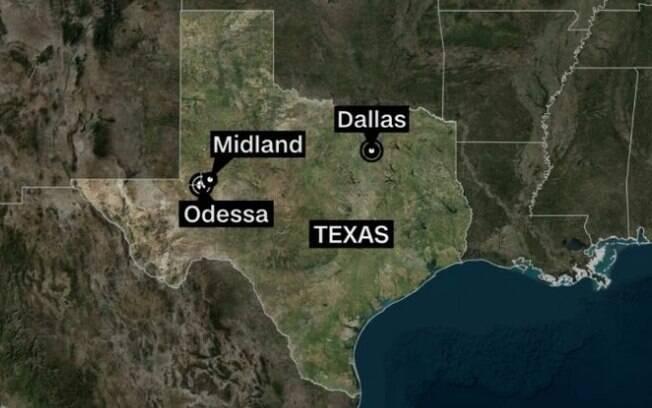 mapa do texas