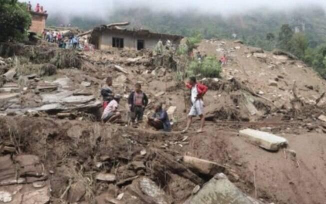 Deslizamentos Nepal