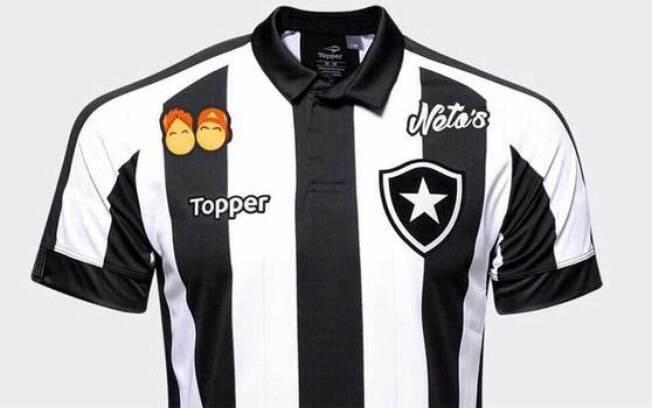 Camisa do Botafogo com o patrocínio de Felipe Neto: