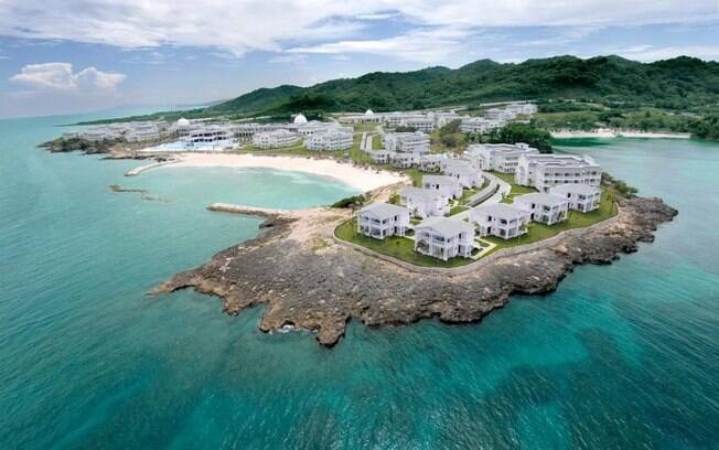 O Grand Palladium Lady Hamilton Resort & Spa é um hotel 5 estrelas em Montego Bay, na Jamaica, onde o casal passou férias