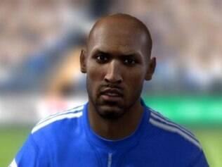 Personagem de Anelka no mundo virtual dos games de futebol