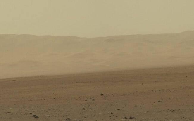 Paisagem da Cratera Gale, em Marte: o oxigênio tem um comportamento intrigante na atmosfera da região