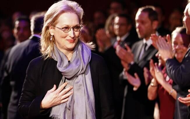 Meryl Streep no tapete vermelho da premiação