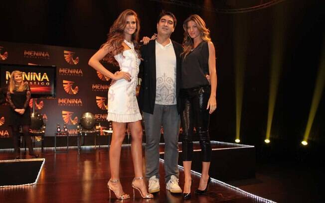Zeca Camargo recebe Izabel Goulart e Gisele Bündchen na Globo