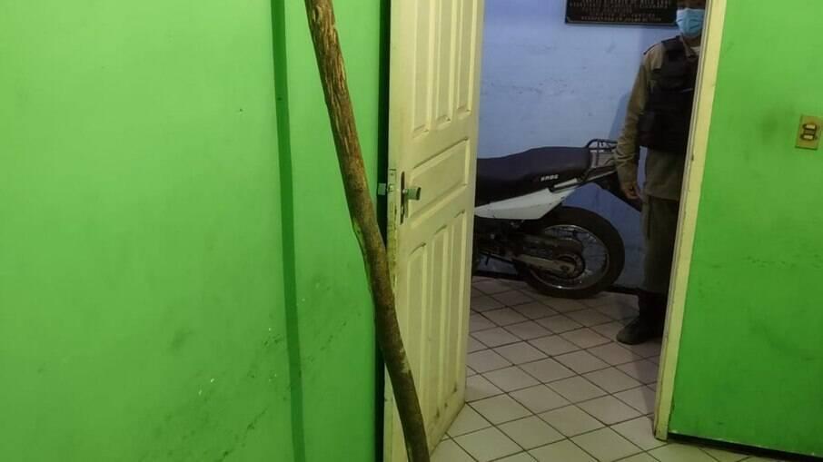 Bastão de madeira utilizado em briga entre irmãos no Piauí