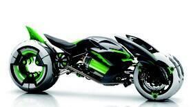 Kawasaki mostra nova tecnologia para superbikes de três rodas