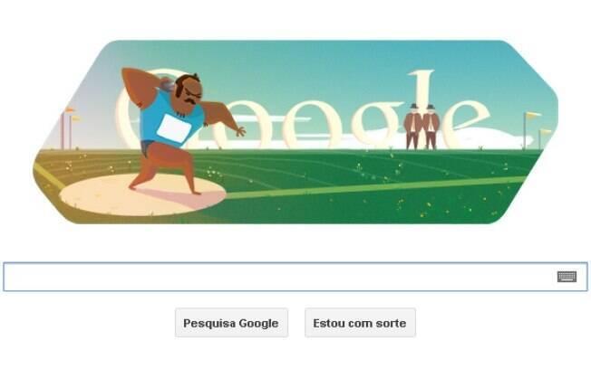 Novo doodle do Google mostrou homenagem aos atletas do lançamento de peso