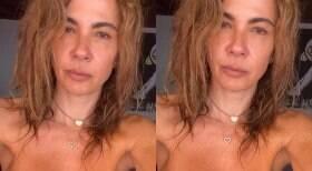 Luciana Gimenez faz topless durante férias em Ibiza