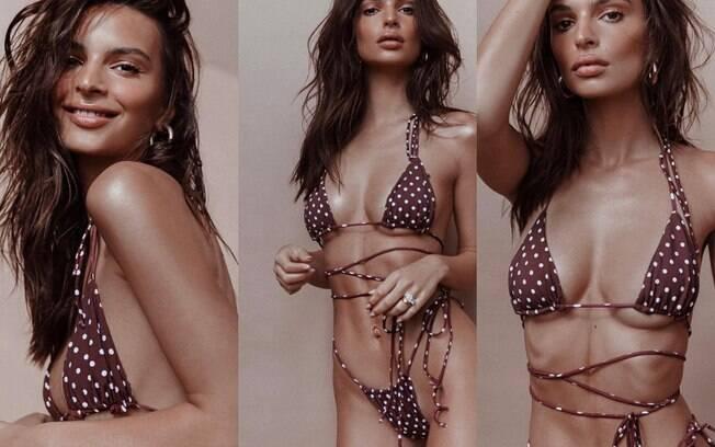 Emily Ratajkowski compartilhou mais fotos da campanha que fez para marca de lingerie