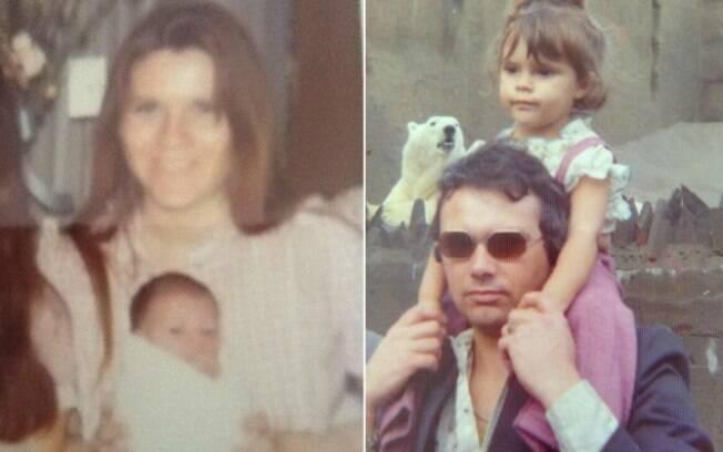 Victoria Beckham com os pais