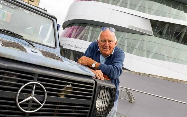 Gunther Holtorf e o Mercedes-Benz 300 GD, carinhosamente apelidado de