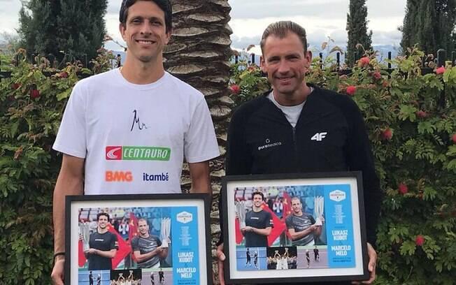 A dupla Melo e Kubot recebeu homenagem do ATP antes do Masters 1000 de Miami