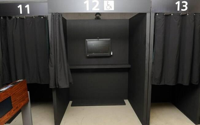 Votos para presidente da Câmara foram registrados em cabines instaladas no plenário