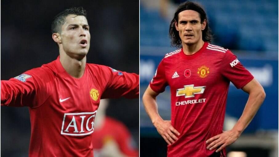 Cristiano Ronaldo e Cavani devem disputar posição no United