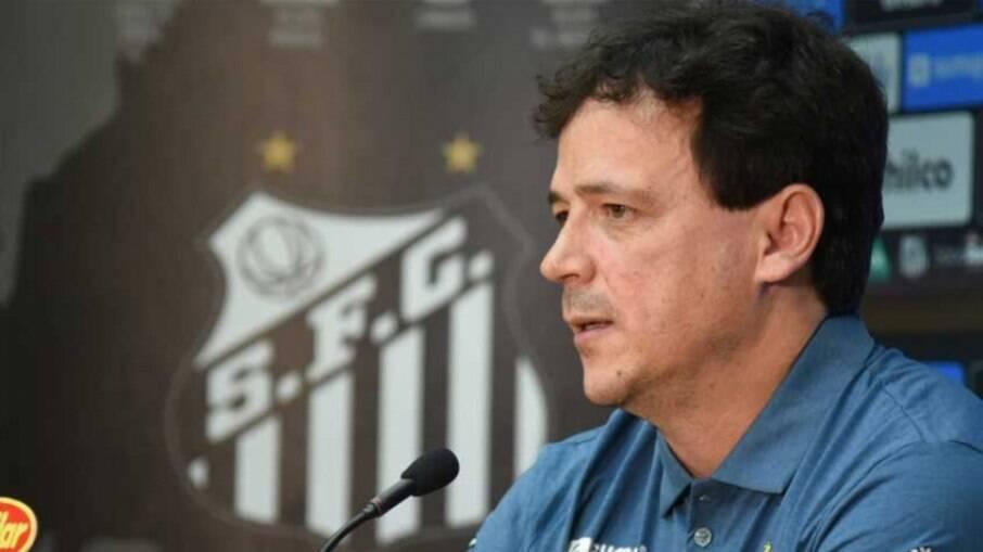 Fernando Diniz assumiu o Santos no começo de maio