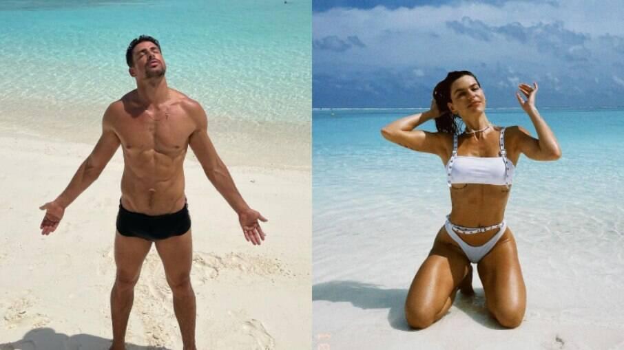 Cauã Reymond e Mariana Goldfarb roubam a cena nas Maldivas