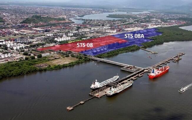 A área denominada STS 08 possui 137.319 m² e STS 08A possui 305.688m²