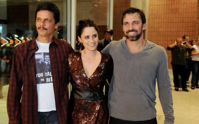 O trio de protagonistas da peça: Duda Ribeiro, Fernanda Vasconcellos e Marcelo Faria