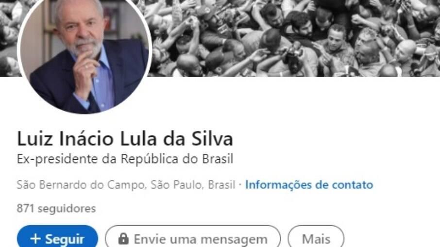 Perfil do ex-presidente Lula no linkedin