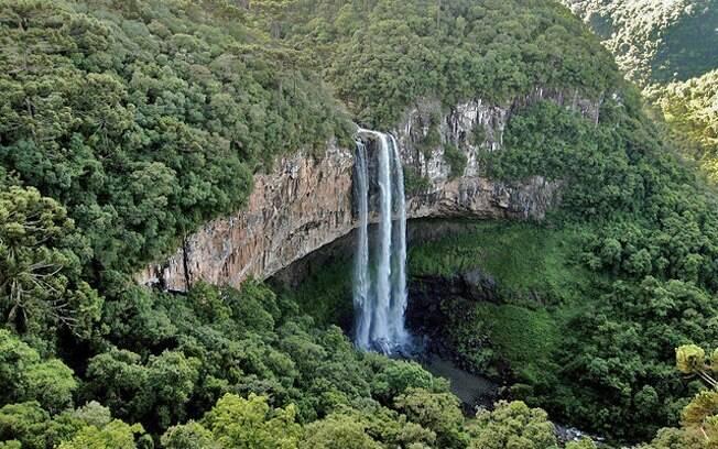 Cascata do Caracol é uma das principais atrações de Canela