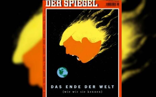 Na capa da revista semanal alemã