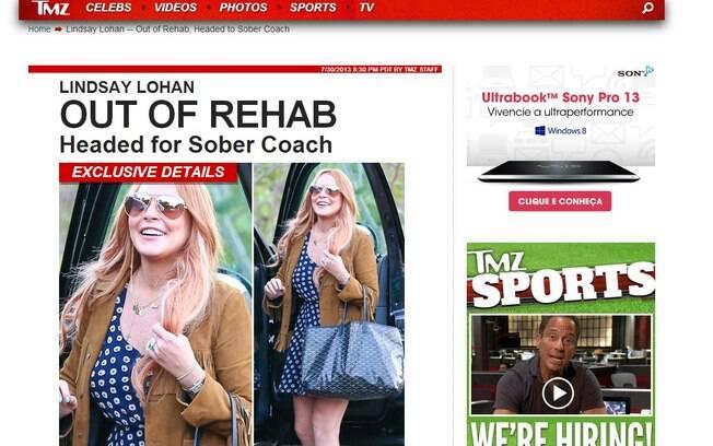 Lindsay Lohan é fotografada deixando a reabilitação nessa terça-feira (30)