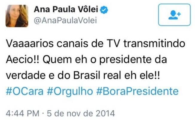 Postagem de Ana Paula de 2014