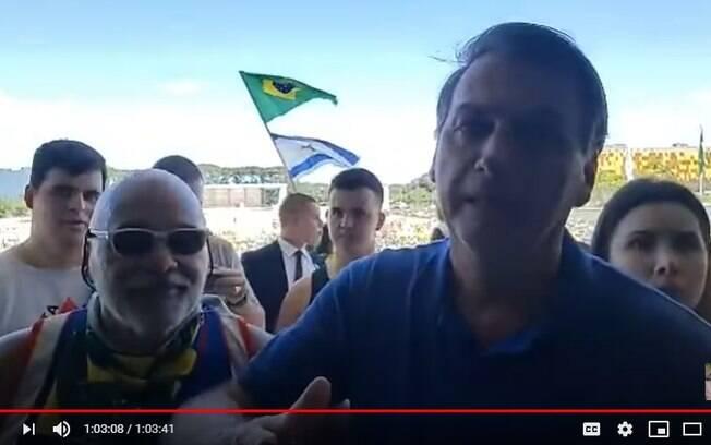 Bolsonaro publica vídeo de manifestação realizada neste domingo