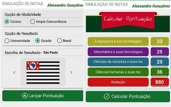 Usuário também pode acessar o app depois do exame, que acontece no próximo fim de semana