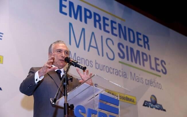 Presidente da República, Michel Temer, participou do lançamento do projeto do Sebrae