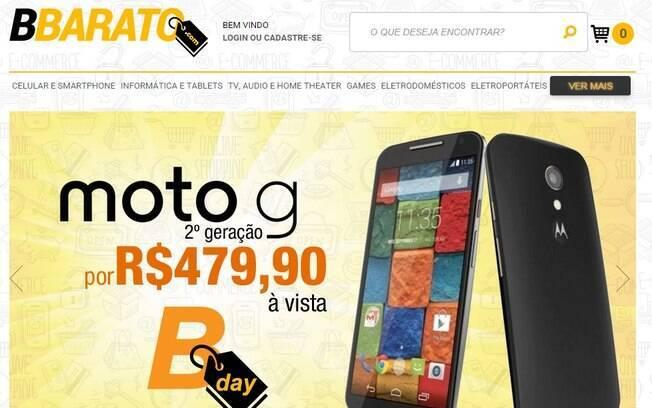 www.bbarato.com. Foto: Reprodução