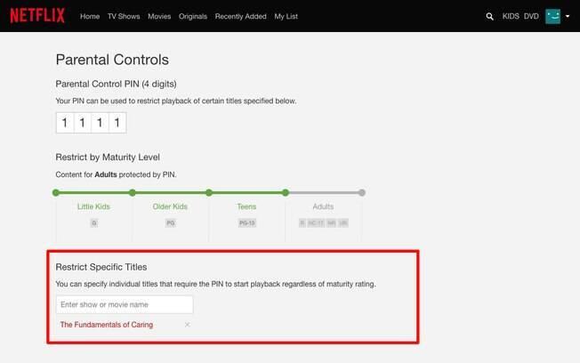 Netflix permitirá que pais especifiquem quais títulos serão bloqueados com uma senha de quatro dígitos