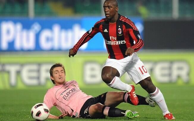 Clarence Seedorf: antes de chegar ao  Botafogo, holandês defendeu o Milan por dez anos,  após ter deixado a Internazionale