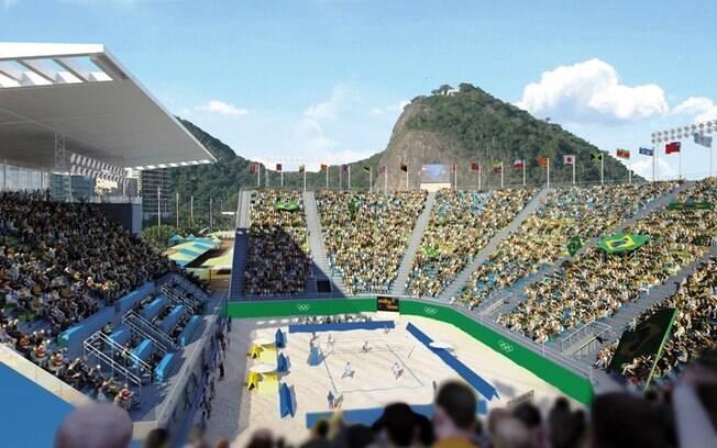 O Estádio de Copacabana será a sede do  torneio olímpico de vôlei de praia nas Olimpíadas  do Rio