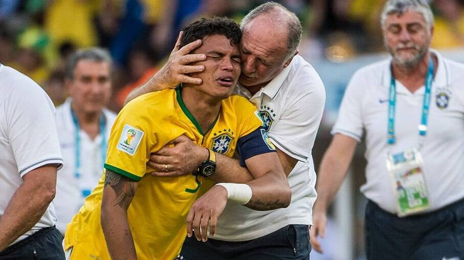 Thiago Silva foi criticado por choro na Copa de 2014 no Brasil