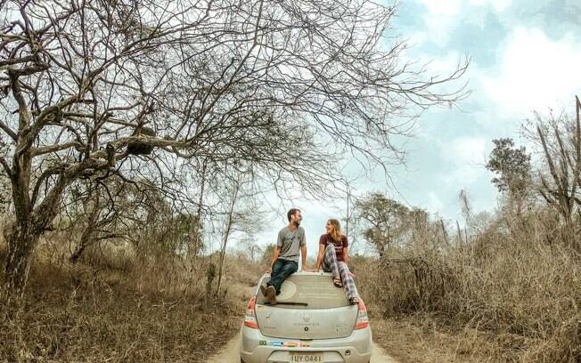 O casal cruzou 10 países e agora espera conhecer todo o Brasil