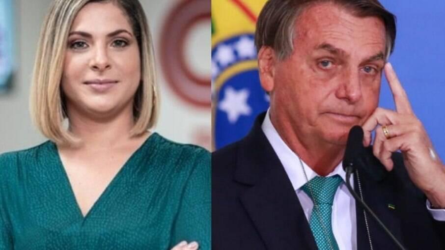 Daniela Lima e Bolsonaro