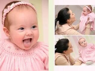 Fotos também podem ser usadas na retrospectiva de um ano do bebê